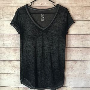 Aerie Real Soft Short Sleeve Tee Black XS